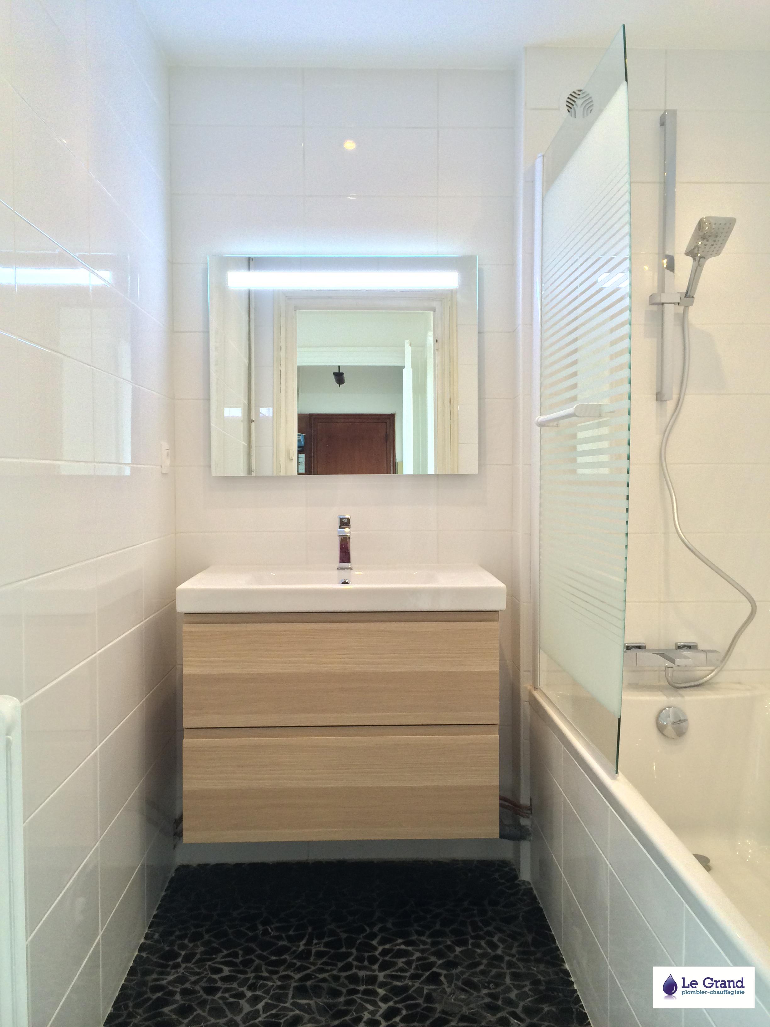 Le grand plombier chauffagiste rennes bruz salle de for Salle de bain douche ou baignoire