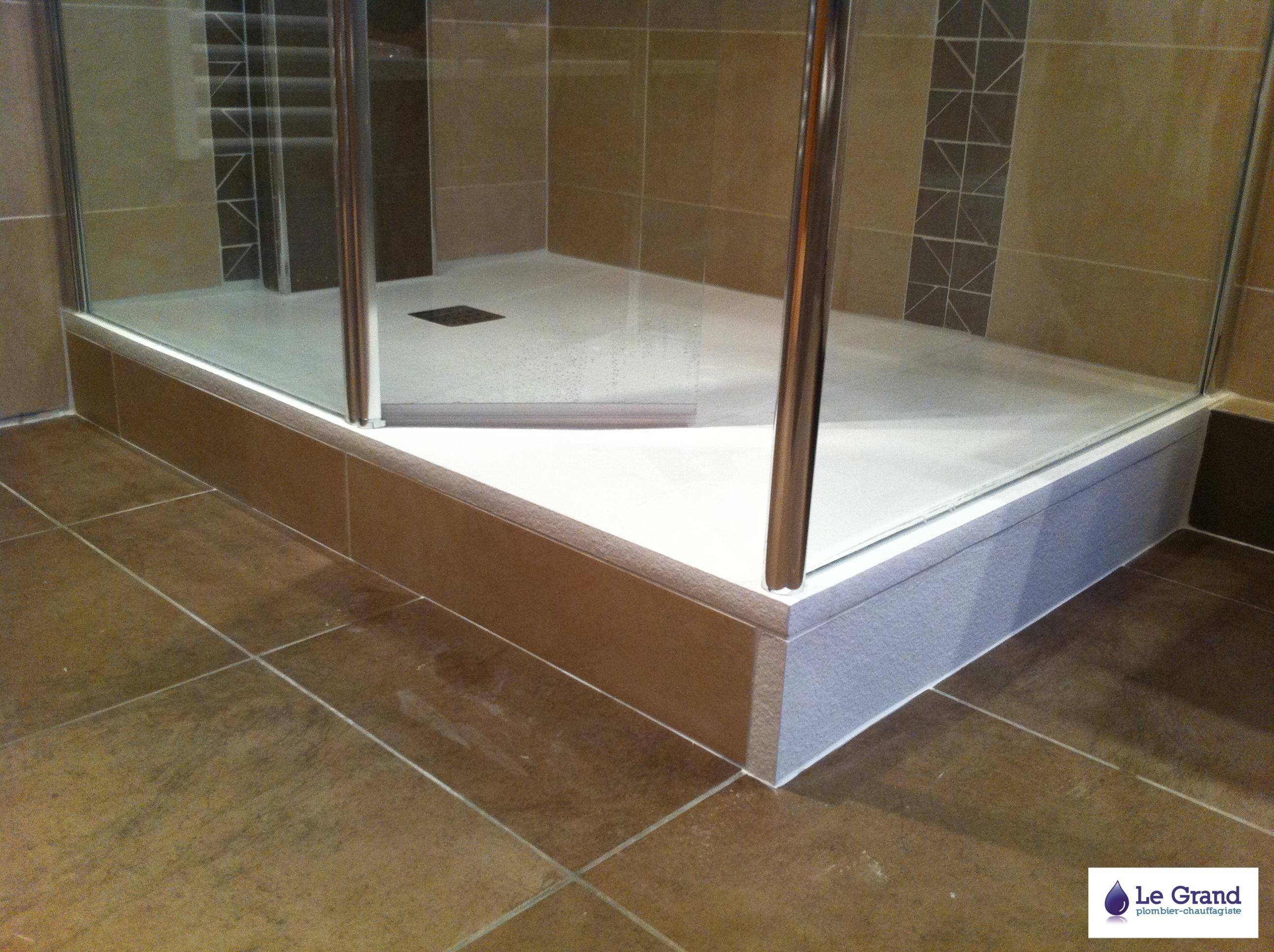 Plombier rennes bruz le grand thomas salle de bains receveur gr 2 le g - Comment changer un receveur de douche ...