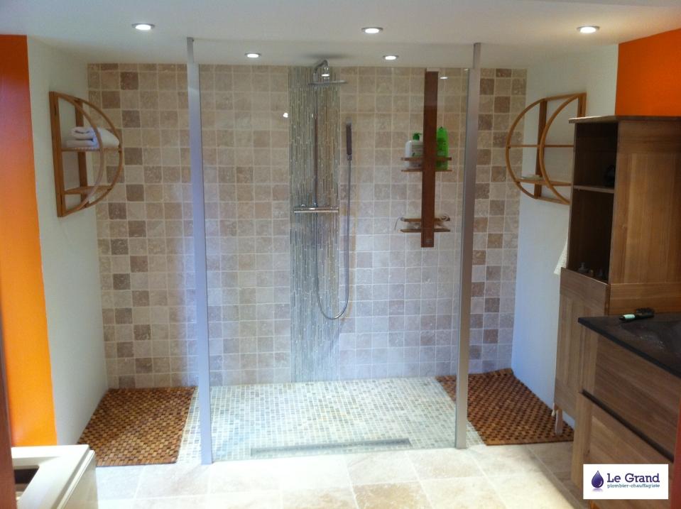 le grand plombier chauffagiste bruz rennes douche italienne le grand plombier chauffagiste. Black Bedroom Furniture Sets. Home Design Ideas